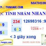 Học tính nhẩm nhanh - phương pháp học toán thông minh - Maths9m