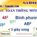 Mẹo toán học tính bình phương một số - Mẹo toán học