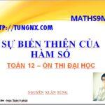 Toán 12 - Maths9m - sự biến thiên của hàm số
