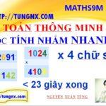 Thủ thuật nhân nhẩm 4 chữ số thông minh - mẹo toán học hay