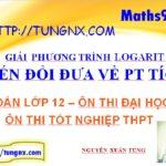 Giải phương trình logarit bằng cách đưa về phương trình tích - phương pháp biến đổi đưa về phương trình tích - học toán 12 online - Maths9m