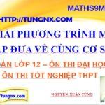 Giải phương trình mũ bằng phương pháp đưa về cùng cơ số -Phương trình mũ- học toán 12 online - maths9m