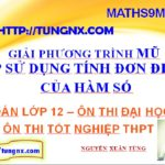 Giải phương trình mũ sử dụng tính đơn điệu của hàm số - Cách giải phương trình mũ - toán lớp 12 - Maths9m