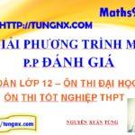 Phương pháp đánh giá giải phương trình mũ - phương pháp đối lập - Maths9m