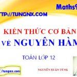Kiến thức cơ bản về nguyên hàm - Chuyên đề nguyên hàm - Học toán 12 Online - Maths9m