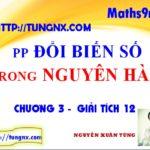 Phương pháp đổi biến số trong nguyên hàm - chuyên đề nguyên hàm - học toán 12 online