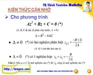 Phương pháp Giải phương trình số phức - chuyên đề số phức - học toán số phức 12 online - Maths9m