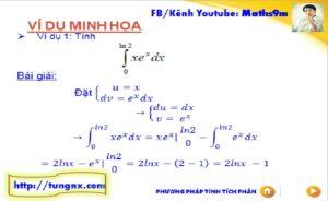 Bài tập Phương pháp tích phân từng phần dạng 1 - chuyên đề tích phân từng phần - học toán 12 online - Tungnx