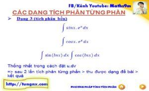 Phương pháp tích phân từng phần dạng 3 - tích phân bền - chuyên đề tích phân từng phần - học toán 12 online - Tungnx