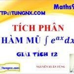 Tích phân hàm mũ - chuyên đề tích phân - Học toán 12 online miễn phí - Tungnx
