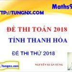 Đề khảo sát chất lượng toán 12 tỉnh Thanh Hóa - đề thi thử toán THPT hay và khó