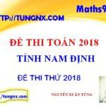 Đề thi thử THPT Quốc gia tỉnh Nam Định - đề thi thử tốt nghiệp THPT môn toán mới nhất