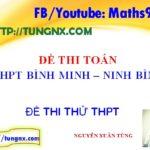 Đề thi thử THPT môn toán tỉnh Ninh Bình - Đề thi thử đại học 2018 mới nhất