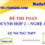 Đề thi thử toán THPT Quỳnh Hợp 2 Nghệ An - đề thi thử tốt nghiệp toán 2018 hay nhất