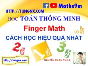 Cách học toán finger math hiệu quả - cách dạy toán finger math cho trẻ hiệu quả nhất - Finger Math Maths9m