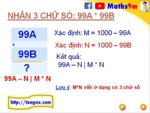Cách nhân nhẩm 2 số có 3 chữ số dạng 99Ax99B với nhau - Mẹo toán học hay cho học sinh tiểu học và THCS