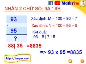 Cách nhân nhẩm nhanh 2 số dạng 9Ax9B với nhau - Mẹo toán học hay cho học sinh tiểu học
