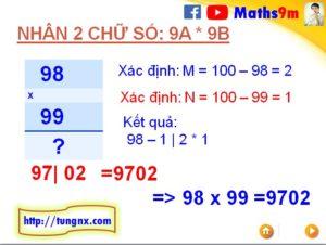 Cách nhân nhẩm nhanh 2 số dạng 9Ax9B với nhau - Mẹo toán học hay cho học sinh tiểu học - Học toán thông minh