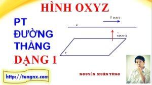 Đường thẳng đi qua một điểm và có vec tơ chỉ phương