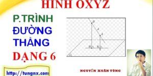 Cách xác định hình chiếu của một đường thẳng lên mặt phẳng
