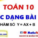 Các dạng bài tập về hàm số bậc nhất - Hàm số bậc nhất lớp 10