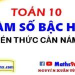 Kiến thức cơ bản nhất cần nắm về hàm số bậc hai - Cách học hàm số bậc hai lớp 10 - Maths9m