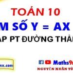 Lập phương trình đường thẳng y = ax + b - Các dạng bài tập về hàm số bậc nhất - Maths9m