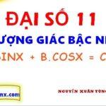 Phương trình bậc nhất theo sinx và cosx