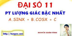 Phương trình bậc nhất theo sinx và cosx - Giải Phương trình lượng giác lớp 11 - Maths9m