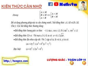 Phương pháp đối lập giải phương trình lượng giác